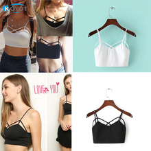 Female Strappy Bra Bralette Sexy Bustier Crop Top Sports Bra Cropped Tops Women Cheap Blusa Bandage Halter Tank Tops Camisole