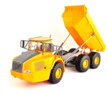 Mini RC Truck Big Dump Truck Engineering Vehicles Loaded Sand Car Toy for Kids boys Gift Without original box(China)
