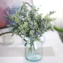 1pc high quality pu small plant artificial flowers leaf home wedding office decoration real touch fake green plant craft  FH265