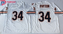 Embroidered Logo 34# Walter Payton throwback high school FOOTBALL JERSEY blue white for fans gift cheap 1104-4(China)