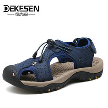 Buy DEKESEN 2018 Mens Sandals Genuine Leather Summer Shoes New Beach Men Casual Shoes Outdoor Sandals man Plus Size 38-46 for $27.10 in AliExpress store