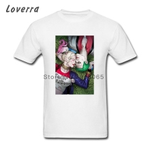 Coque Harley Quinn Joker T Shirt Men O-Neck Fitness Male TShirt XS-XXXL Brand Clothing Short Sleeve Cotton Tee Shirt Homme(China)
