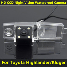 For Toyota Highlander 2002 2003 2004 2006 2007 2008 2009 2010 2011 2012 Kluger Car CCD Night Vision 4LED Backup Rear View Camera