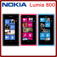 Unlocked  Nokia Lumia 800 Windows 7.5 cell Phones 16GB ROM 3G GPS WIFI 3.7 inch 8MP Camera smart phone in stock Free shipping