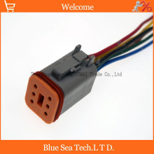 Sample,5 PCS Deutsch DT06-6S 6Pin Engine/Gearbox waterproof electrical connector with cable for car,bus,motor,truck etc.