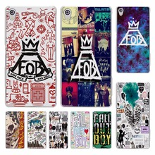 fashion Fall Out Boy bands logo hard transparent Cover Case for Sony Xperia z5 compact z5 premium z4 z3 M4 M5 XA