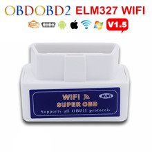 Newest ELM327 WIFI ELM 327 OBD2 Auto Scanner For Android & IOS System Mini ELM327 Bluetooth Support All OBDII Protocol Free Ship