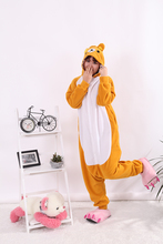 Rilakkuma Bear Orange Women Men Adult Unisex Fleece Animal Onesies Novelty Pajamas Pyjamas Jumpsuit Nightwear Carnival Costumes