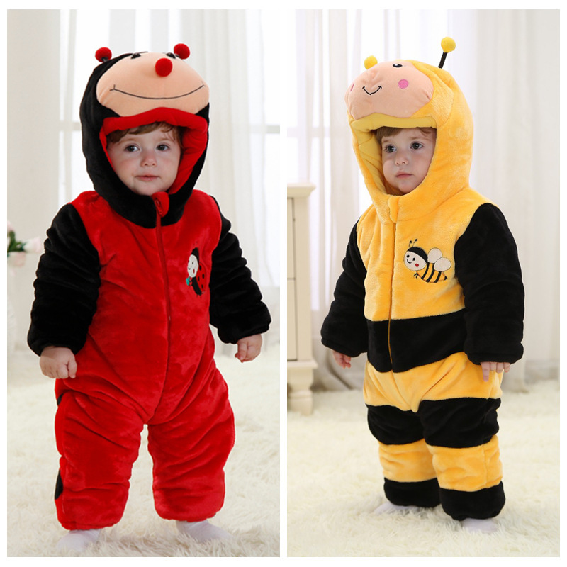 Cute inset costume cartoon rompers clothing for baby kids wear photography and warm for winter<br>