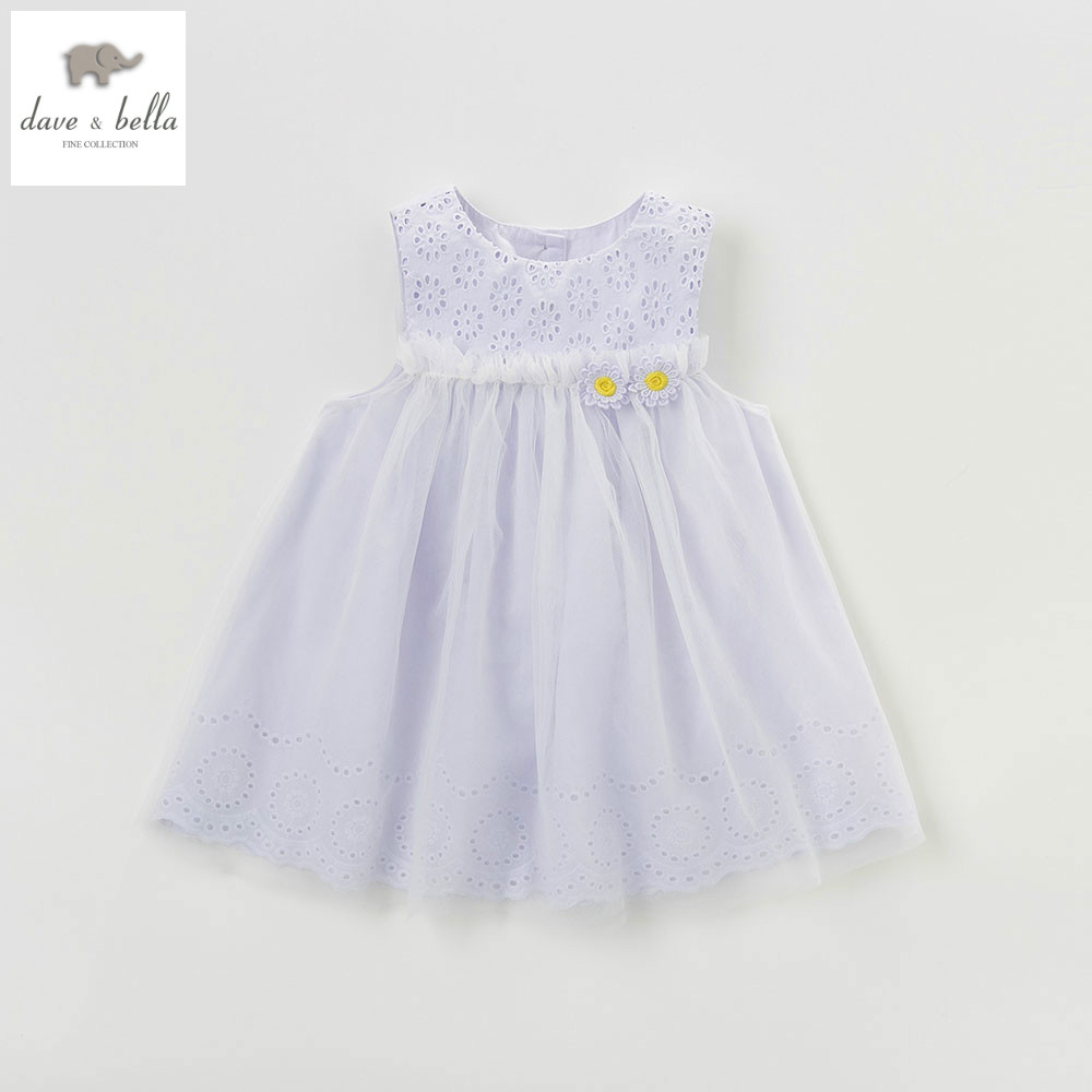 DB4954 dave bella summer baby girls princess dress flowers dress wedding dress kids birthday dress girls costumes<br>
