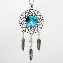 2017 Trendy Style Little Fairy Pendant Necklace Little Fairy Jewelry Silver Dream Catcher Necklace DC-00367(China)