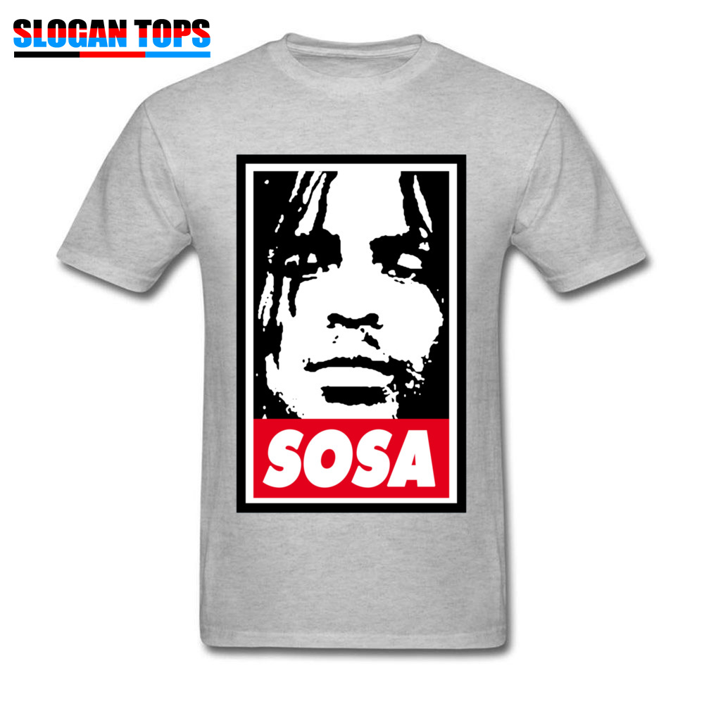 Sosa Chief Keef 1151 Tops Shirts Brand New O Neck Design Short Sleeve All Cotton Men\`s Top T-shirts Street Tees Sosa Chief Keef 1151 grey