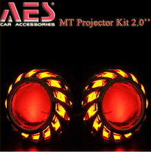 Hid driving lights Bi-xenon projector lens MT03 hid projector headlight kit H4 ,mini projector lens for toyota