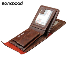 2016 Men Fashion Magnetic Clasp Faux Leather Wallet Card Pockets Slim Purse Bifold Wallet Carteira 9IHH