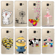 Minions Cat Mickey & Minnie Kiss Hard Case Cover For Samsung Galaxy A310 A510 A710 J110 J510 J710 A3 A5 A7 J1 J5 J7 2016 2017(China)