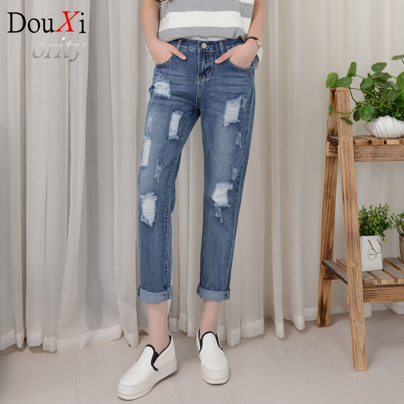 spring clothing women size hole Ankle-Length of pants, leisure female haroun pants jeans loose Harem pantsОдежда и ак�е��уары<br><br><br>Aliexpress
