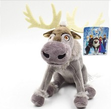 2015 NEW IN Minecraft 19cm Sven reindeer Kristoff friend Svee plush doll baby toys action figures free shipping