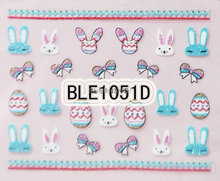 2PCS BLE1051D Nail Art Cute Cartoon Easter Sticker Nail Art Sticker(China)