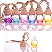 Home Car Hanging Air Freshener Perfume Fragrance Diffuser Empty Glass Bottle