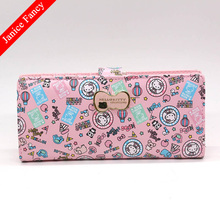 Clearance Sale Hello Kitty Designer Fashion PU Cartoon Card Holder Long Coin Bolso Mujer Neceser Women Purse Wallet 19*5*1.5cm