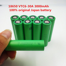 100% original 3.7V 3000mAh 18650 Li ion rechargeable battery for Electronic Cigarette us18650vtc6 vtc6 30A Lantern Toys Tools(China)