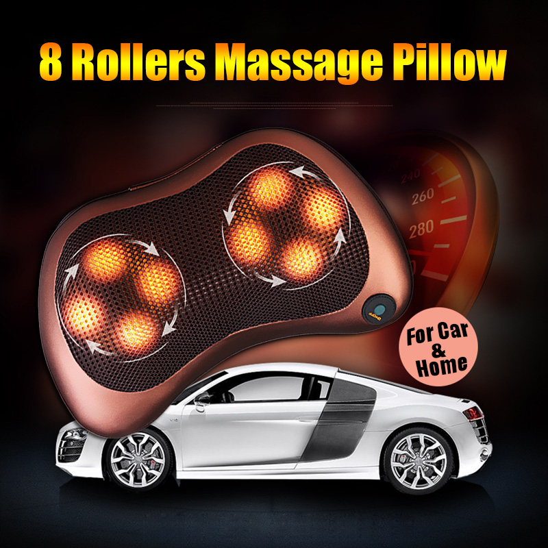Massage Device Neck Relaxation Pillow Electric Shoulder Back Massager Car Shiatsu Massage Pillows Heating With Box US Plug#94387<br><br>Aliexpress