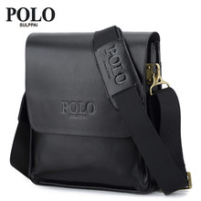 SULPPAI POLO Hot 2017 New Men's Bags solid fashion Shoulder bag polo Letter PU Leisure LO briefcase men messenger bags