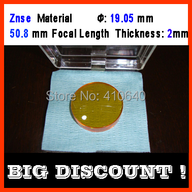 Znse (imported material) diameter 19.05 mm focus distance 50.8 mm thickness 2 mm CO2 laser focus len<br><br>Aliexpress