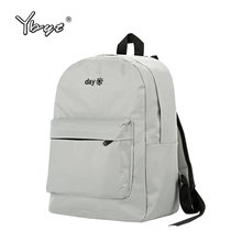 new canvas solid student school bags hotsale preppy style bookbag ladies stylish summer travel rucksack women shopping backpacks