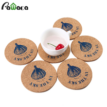 6PCS 10cm Retro Coasters Set Cork Drink Cup Mat Round Placemats Coffee Tea Mug Pad Drinks Holder Tablemats Coasters posavasos(China)