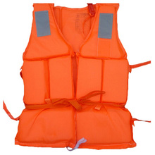 Orange Prevention Flood Fishing Rafting Drift Sawanobori Adult Foam Life Jacket Vest Flotation Device + Survival Whistle