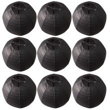 10 Pieces 12 Inch 30cm Halloween Decoration Black Chinese Paper Lanterns For Party Decorative Hanging Paper Ball