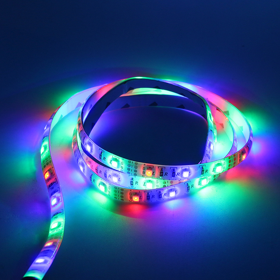 hot USB Cable Power 0.5M 1M 2M 3M 4M USB LED Strip Light DC 5V 3528 SMD Waterproof Flexible tape ribbon For TV Background Light