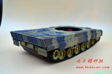 DIY 61 Light shock absorption Plastic Tank Chassis with Rubber Crawler belt Tracked Vehicle