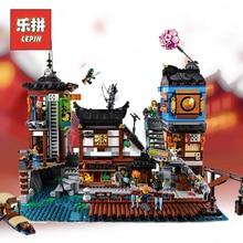 New Lepin 06083 City Docks Set Compatible Legoinglys Ninjagoings City 70657 Building Blocks Bricks Model Set Children Toys