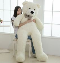 Large size 200cm Giant Teddy Bear Lovers Big bear Arms Large Dolls Birthday Gift Plush Toy Wedding Bear With PP Cotton Quality(China)