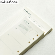 K&KBOOK 2017 Fashion Notebook 6 Hole Loose-Leaf Diary A5 A6 Spiral Planner  Inner Pages Weekly Plan Matching Filofax