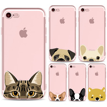 Super Cute Cartoon Cats Dogs Golden Retriever BULLDOG Phone Cases For iPhone 7/8 7/8plus Case Soft TPU Gel Flexible Skin Cover
