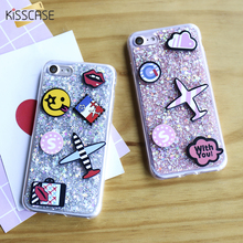 Buy KISSCASE Bling Glitter Cartoon Soft Silicone Case Iphone 7Plus Luxury 3D Airplane Cute Phone Cases Cover Iphone 6 6S 7 for $2.89 in AliExpress store