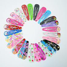Free Shipping 10 Pcs/lot Color Pringting Carton Hair Grips Girls' Hair Clips Hairpin Kids Accessories