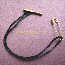 Free shipping Premade Hang Tag Barbed String with Safety Pin, for Garment Tag Tickets Cord, various colors, thread Tag seal