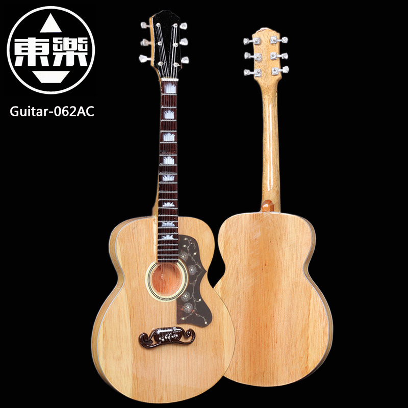 Wooden Handcrafted Miniature Guitar Model guitar-062AC Guitar Display with Case and Stand (Not Actual Guitar! for Display Only!)<br>
