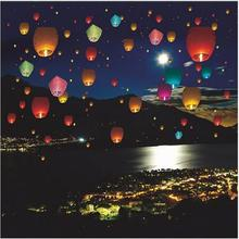 Hot sale 10pcs Flying Wishing Kongming Lantern Hot Air Balloon Cute Love Heart Sky Lantern for Birthday Party Decoration KMD001(China)