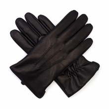 Harssidanzar Mens 2017 New Design Genuine Leather Gloves For Winter(China)