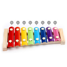 Hot Sale Musical Toys Knock On Piano Cool 8 Tones Colorful Fashion Hand Knock Piano Baby Kids Toys(China)