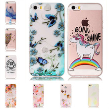 For iPhone SE 5 s Coque Case Cover 3D Relief Soft Silicon Butterfly Cat Rubber Etui Hoesje Bag TPU Gel For iPhone 5se 5s Capinha