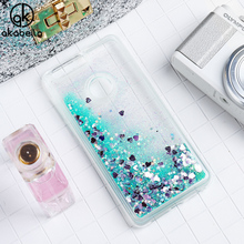 AKABEILA Glitter Liquid Soft TPU Case For Huawei Honor 8 Honor8 Covers Coque For Huawei Honor 8 Phone Case Back Covers Funda