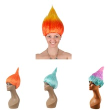 Halloween decorations 4 Colors wigs Flame Wizard wig For April Fool 's Day Halloween Party decorations