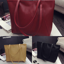 Fashionable winter quality PU leather candy-colored fashion girls women bag toothpick land mobile shopping big bag Free Shipping(China)