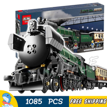 1085pcs Creator Classical Emerald Night Train 21005 Steam Locomotive Model Building Kit Blocks Toys Bricks Compatible With lego